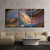 wall26 - 3 Piece Canvas Wall Art - Abstract Picture Showing a Symbolic Alternating Scenery - Modern Home Decor Stretched and Framed Ready to Hang - 24''x36''x3 Panels