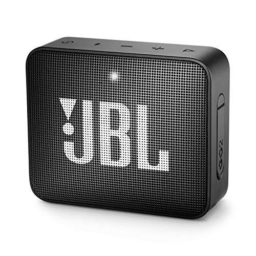 JBL GO 2 Portable Bluetooth Waterproof Speaker, Black, 4.3 x 4.5 x 1.5