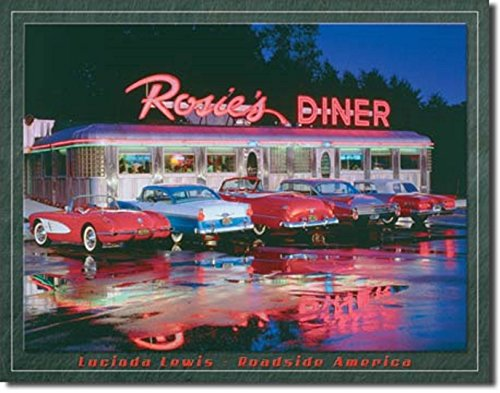 ROSIE'S DINER DRIVE IN CARS HOT RODS MUSCLE BEACH SURFBOARD 16