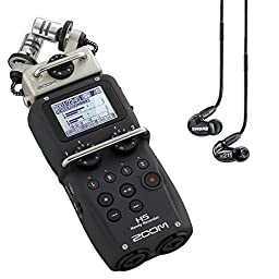 Zoom H5 Recorder w/ Shure SE215 Black Earphones