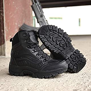 HCBYJ scarpa Scarpe da Trekking all'aperto Ultra Leggero da Combattimento Stivali Forze Speciali Stivali Militari Uomini Primavera e Autunno Scarpe da Trekking all'aperto Deserto