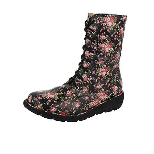 Heavenly Feet Walker2 Botas Negro Floral Floral Negro