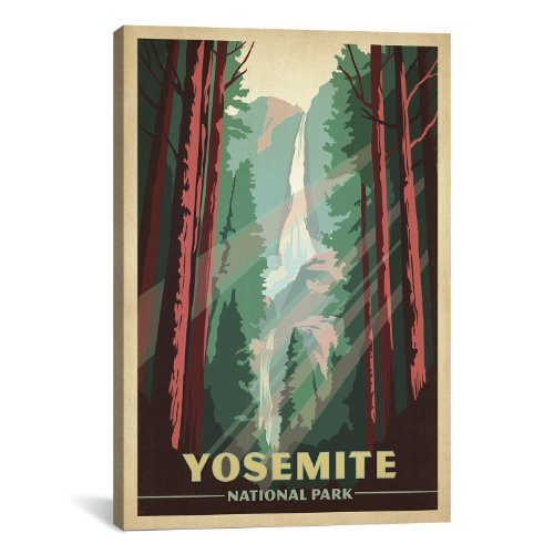 iCanvasART Yosemite National Park Canvas Art Print by Anderson Design Group, 18 by 12-Inch