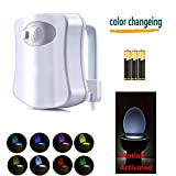 Toilet lights, Motion Activated Guashi Toilet Nightlight (8 Color)
