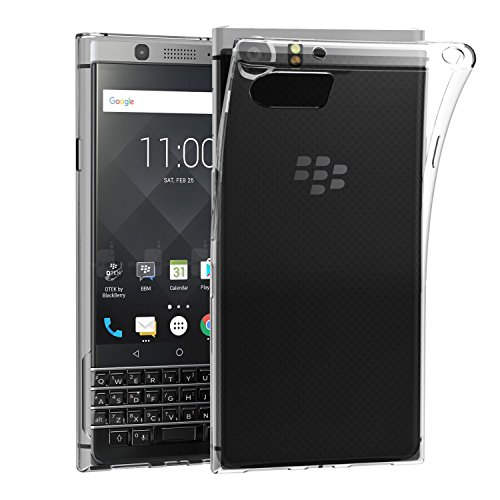 BlackBerry KEYone Case, AVIDET Shock-Absorption, Anti-Scratch Soft Gel TPU Silicone Case Cover for BlackBerry KEYone (Transparent)