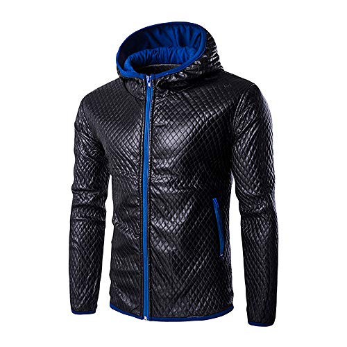 Dream_mimi Fashion Men's Autumn Standing Collar Windproof Jacket Outdoor Casual top(Blue,M)
