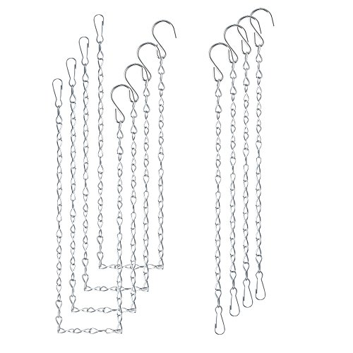 Teenitor 8 Pieces Hanging Chain for Bird Feeders, Planters, Lanterns and Ornaments, 4 Pieces 35 Inch and 4 Pieces 9.5 Inch Hanging Chain.