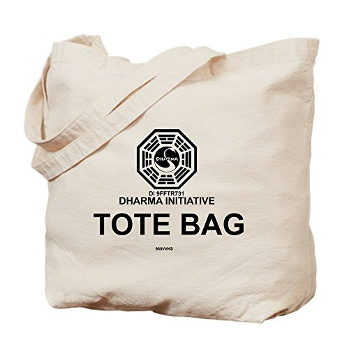 Dharma Initiative Canvas Tote Bag for Women Cute Eco-Friendly Reusable Natural Handbag