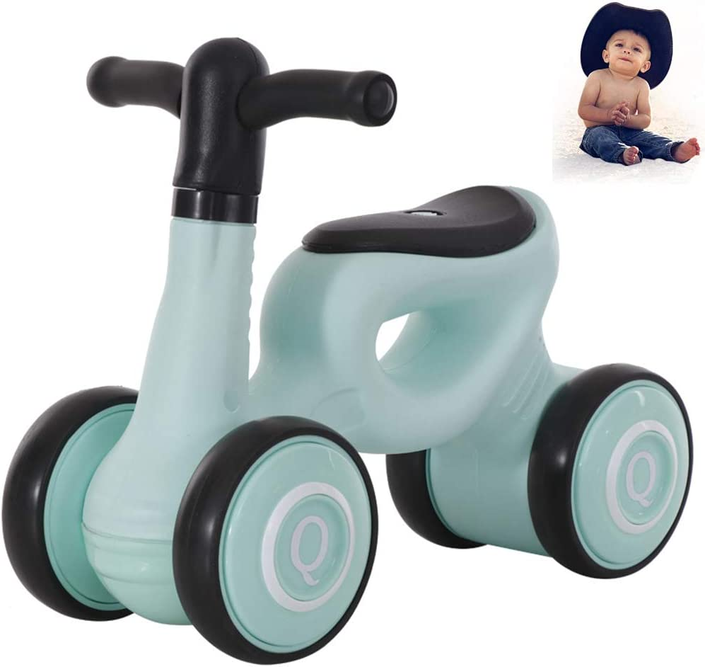 DSYYF Baby Balance Bikes Bicicleta Niños Walker Ride-On Toys, sin Pedal Infant 4 Ruedas Baby Walker Push Bike para niños de 1-2 años Niños,4