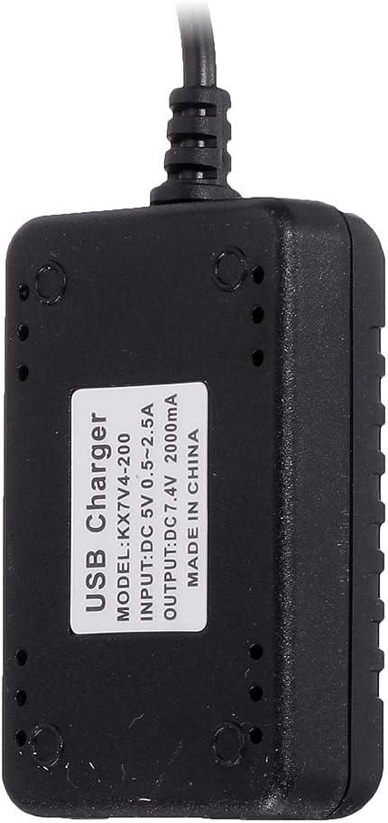 RONSHIN 7.4V 2000Mah 5cm XH-3P Chargeur USB Rapide pour Wltoys 144001 XK K130 12428 A959 A959-B A979 A979-B K989 K969 Mod/èles de v/éhicules de Voiture RC