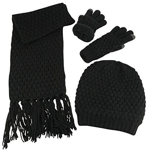 popcorn knit scarf - 2