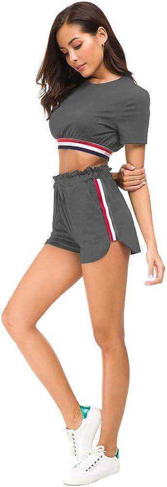 Unifizz Womens Sweatsuit Set 2 Piece Tracksuit Set Bodycon Sport Jogger Sets Ripped Pullover Long Sleeve Long Pants