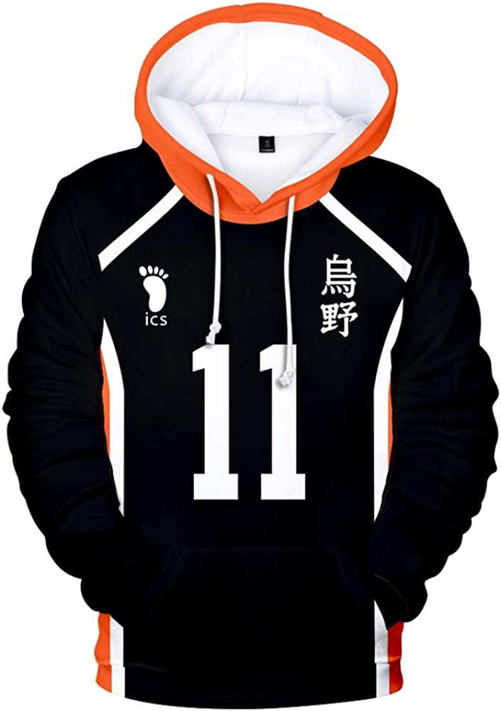 to The Top Sweats /à Capuche Dessin Cosplay Sweatshirt Mode D/écontract/ée Pullover Sweat Pull Tops Haikyuu!