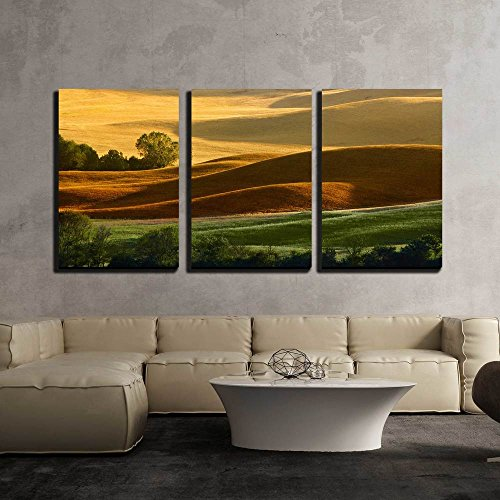 Tuscany Italy Landscape - wall26 - 3 Piece Canvas Wall Art - Countryside Landscape in Tuscany Region of Italy - Modern Home Decor Stretched and Framed Ready to Hang - 24
