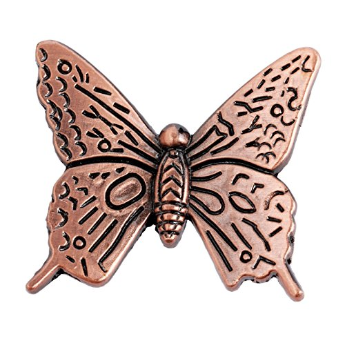 Butterfly Cabinet Knob - 5Pcs Vintage Butterfly Cupboard Door Knobs Cabinet Handles Furniture Chest Drawer Pull Red Bronze (1.69'' x 1.57'' x 0.67'')