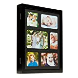 Mele & Co. Leighton Hanging Photo Frame Jewelry Cabinet in Java Finish