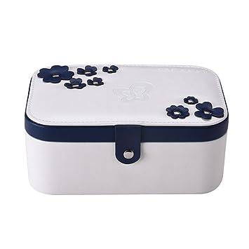 Amazon.com: Viaje portátil caja de joyería 2-laye ...