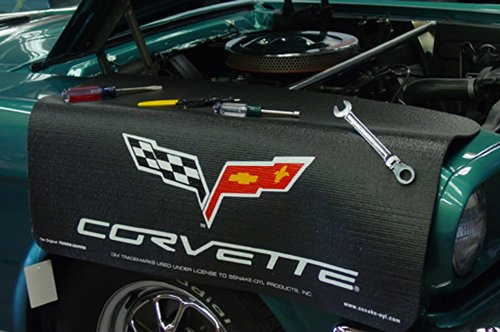 Chevrolet Corvette C6 Logo Black Grip Fender - Corvette Covers Fender