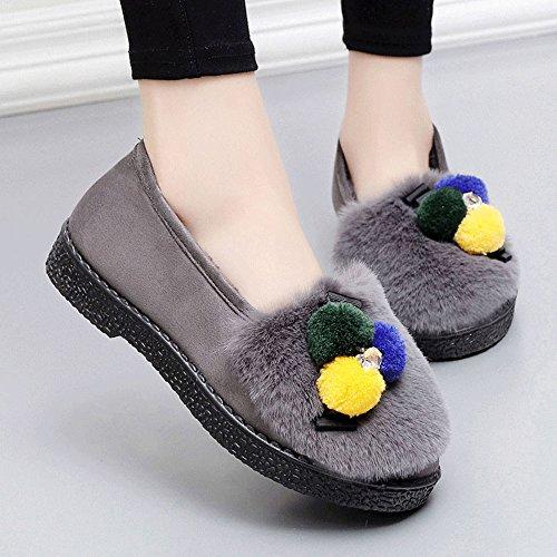 Opcional de Bolsas Colores de Zapatillas Algodón Plataforma y de Zapatos Mujeres 4 Cálido para Mes GYHDDP C Zapatillas Disponibles Talla PqZtc4gU
