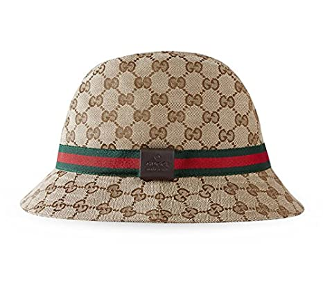 9d45e1d51f1ee2 Gucci Original GG Canvas Fedora with Web Detail, Beige/ebony 200036 (Small  / 57 cm / 22.4 in): Amazon.ca: Clothing & Accessories