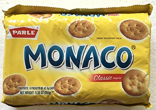 (Parle Monaco Classic Regular Biscuits VALUE PACK - 43.5g (Pack of 6))