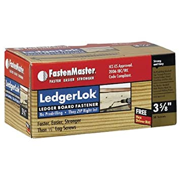 50-Count FastenMaster FMLL005-50 LedgerLOK Ledger Board Fastener 5 Inches