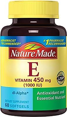 Nature Made Vitamin E 1000 IU (dl-Alpha) Softgels, 60 Ct