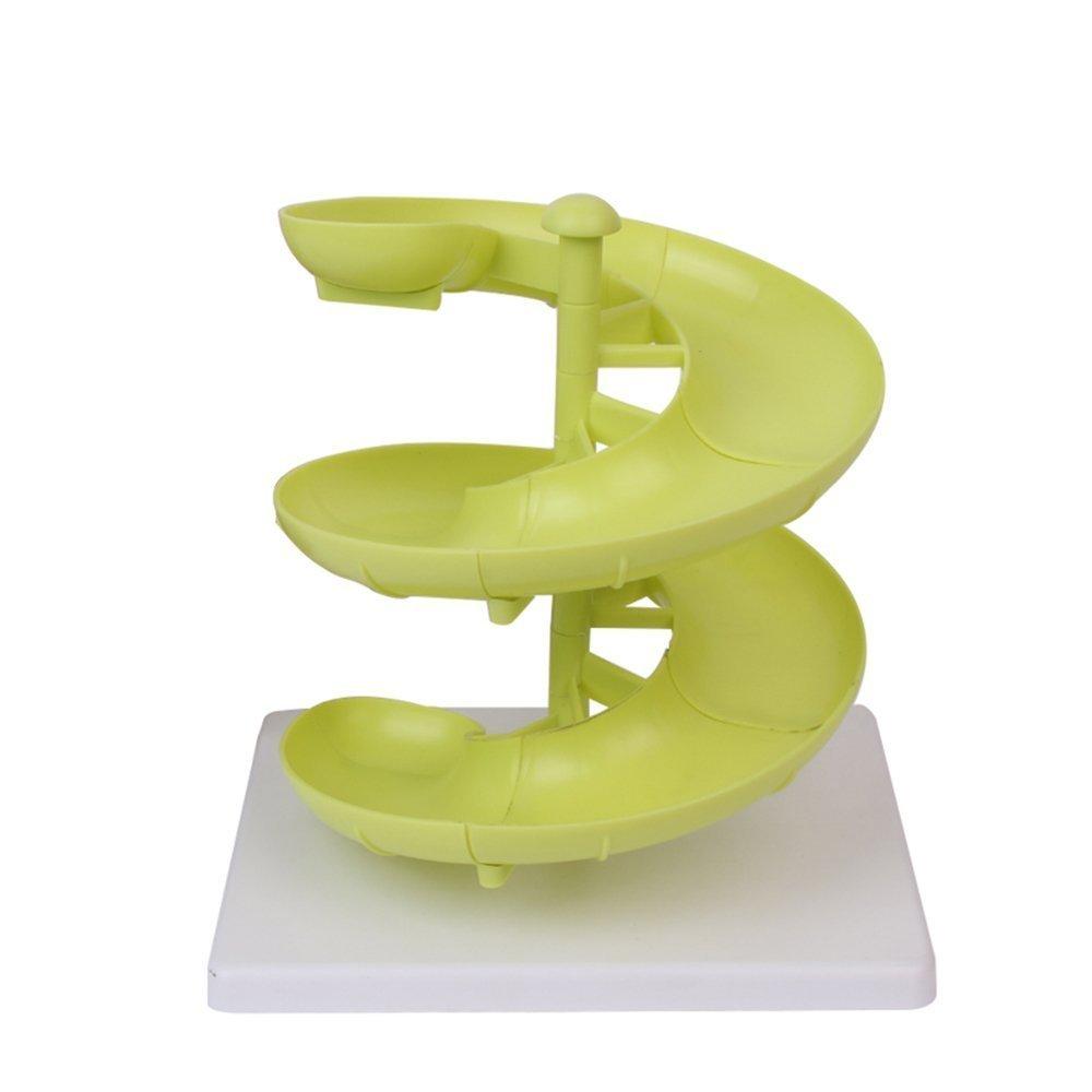 JUNGEN Egg Run Basket Plastic Egg Fruit Dispenser Holder for Medium to Large Eggs with Base