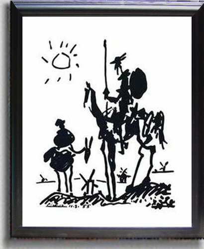 Artistic Home Gallery Don Quixote by Picasso Satin-Black Framed Canvas (Ready-to-Hang) from Artistic Home Gallery