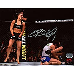 "Ronda Rousey Ultimate Fighting Championship Autographed 8"" x 10"" UFC 184 Over Cat Zingano Photograph - Fanatics Authentic Certified"