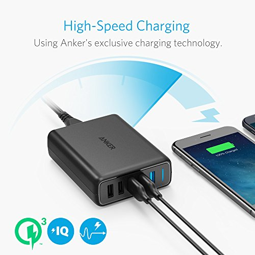 Anker Quick Charge 3.0 63W 5-Port USB Wall Charger, PowerPort Speed 5 Galaxy S9 / S8 / S7 / S6 / Edge / +, Note 5/4 PowerIQ iPhone X / 8/7 / 6s / Plus, iPad, LG, Nexus, HTC More by Dr.fasting (Image #2)