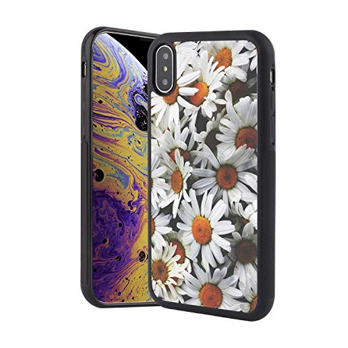 KASOS iPhone Xs Max Case, Soft TPU and Hard PC Case Shockproof for iPhone Xs Max, Tire Tread Full Body Protective Anti-Scratch Resistant Case for iPhone Xs Max-Daisy