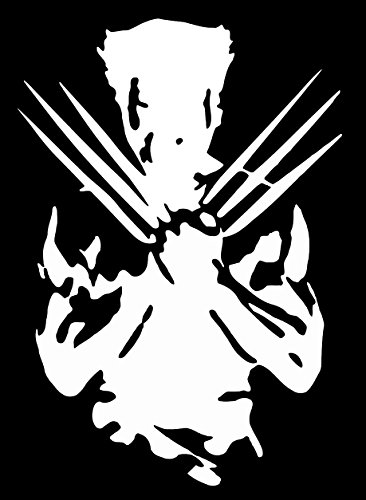 UR Impressions Wolverine Silhouette Decal Vinyl Sticker Graphics for Cars Trucks SUV Vans Walls Windows Laptop|White|7.3 X 5 inch|URI363