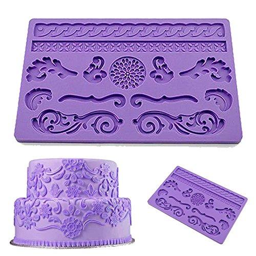 Dragon Wedding Cake (Wedding Cake Lace Decorations,DiDaDi Lovely Silicone Lace Cake Mold, Fondant Cake Decorating Baking Tool, Soap Mold, Candy Mold, DIY Cake)