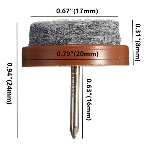 40pcs Round Heavy Duty Nail On Anti Sliding Felt Pad(Dia 0.79u2033 Or  20mm,brown) For Wooden Furniture Chair Tables Leg Feet By Alimitopia