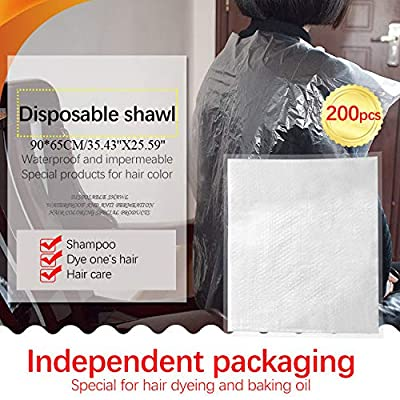 Airpow 200 pcs Disposable Hair Cutting Apron - Hair Salon Cape Disposable Barber Cloth Gowns Disposable Waterproof Overalls Capes, Great for Both Home and Salon Use: Arts, Crafts & Sewing