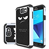 all boost mobile phones - J7 V Case, J7 Perx Case, J7 Sky Pro Case, J7V Case, Galaxy Halo Case, J7 Prime Case, LEEGU Dual Layer Heavy Protective Silicone Plastic Cover Case for Samsung Galaxy J7 2017 - Don't Touch My Phone