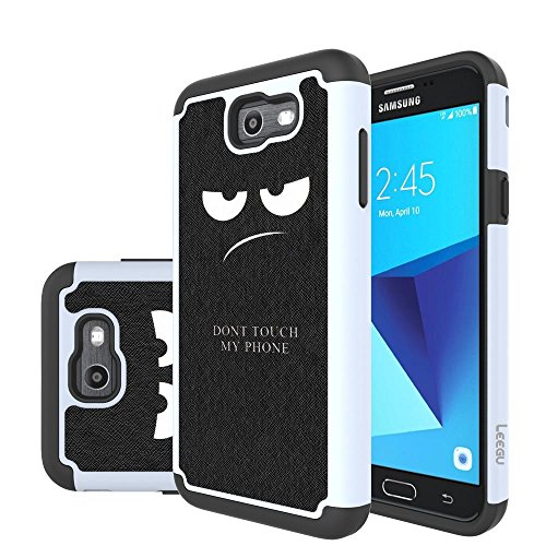 J7 V Case, J7 Perx Case, J7 Sky Pro Case, J7V Case, Galaxy Halo Case, J7 Prime Case, LEEGU Dual Layer Heavy Protective Silicone Plastic Cover Case for Samsung Galaxy J7 2017 - Dont Touch My Phone