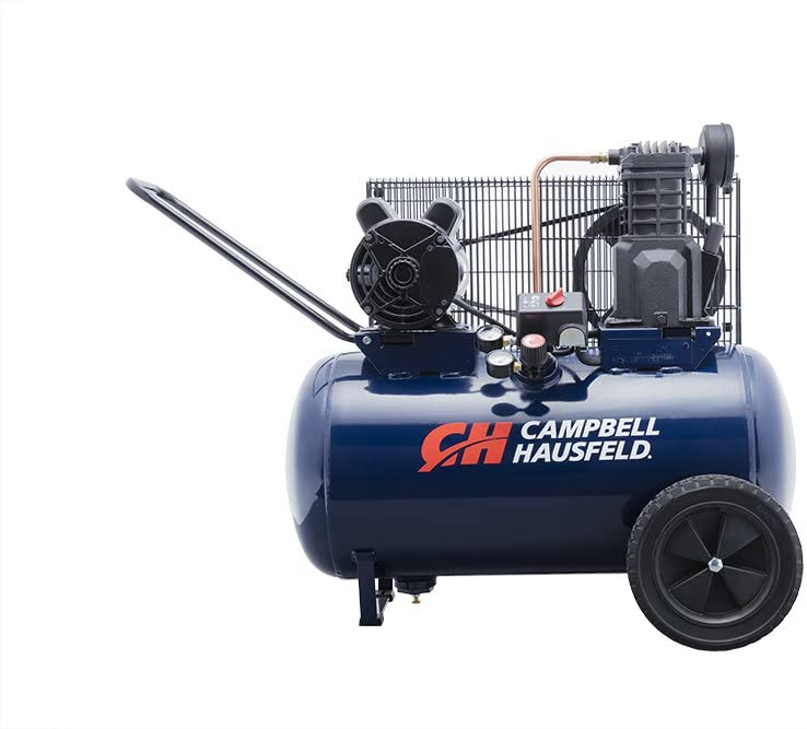 Campbell Hausfeld Air Compressor, 20-Gallon Horizontal Portable Single-Stage 5.5CFM 2HP 120/240V 1PH (VT6290)
