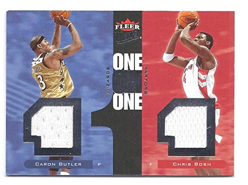 CARON BUTLER CHRIS BOSH 2007-08 Ultra SE One on One #OOCB Dual Game-Used Jersey Card Numbered to only 99 Made! Miami Heat Washington Wizards Basketball