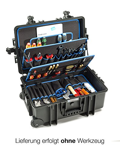 Rolling Tool Case - B&W International Jumbo 6700 Outdoor Tool Case with Pocket Tool Boards, Black