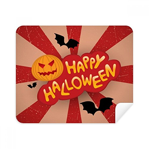 Cartoon Halloween Fonts Phone Screen Cleaner Glasses Cleaning Cloth 2pcs Suede Fabric]()