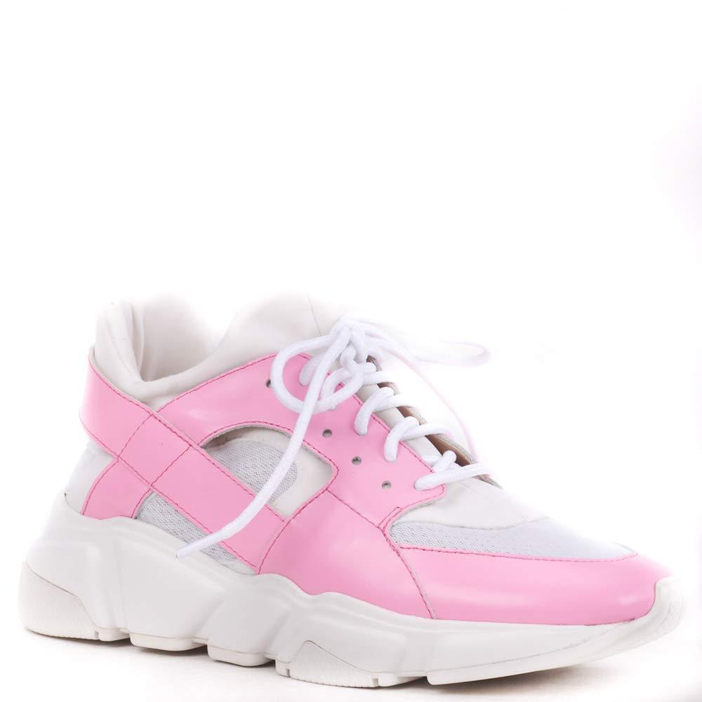 Pre-Venda  Envio A Partir De 25 11 2018. Tênis Fluo Couro Neon Pink 38   Amazon.com.br  Amazon Moda b6e09fbab8d1c