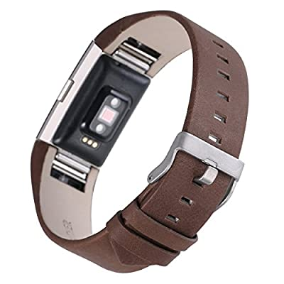 Fitbit Charge 2 Bands, AnsTOP Genuine Leather Wristbands for Fitbit Charge 2