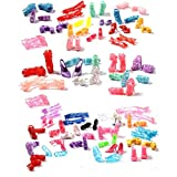 Buytra 60 Pairs Doll Shoes High Heeled Shoes Boots Accessories for Barbie Dolls Girls' Birthday Gifts Buytra