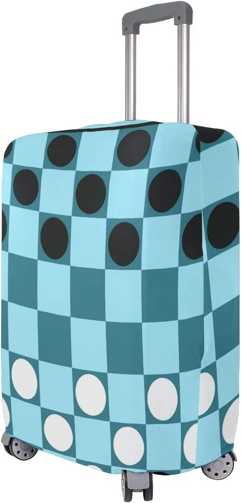 GIOVANIOR Checkers Game Blue Board Luggage Cover Suitcase Protector Carry On Covers