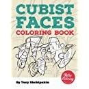 Cubist Faces Coloring Book