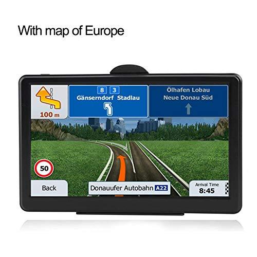 sbjm Truck Navigator,7-Inch Touch Screen GPS Car Navigation System RAM256M+ROM8GB FM AV-in SAT NAV with Map Sun Visor