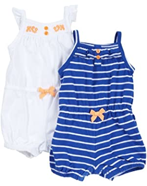 Baby Girls' 2-pack Jersey Rompers