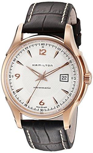 (Hamilton Men's H32645555 Jazzmaster Pink-tone Case Watch )